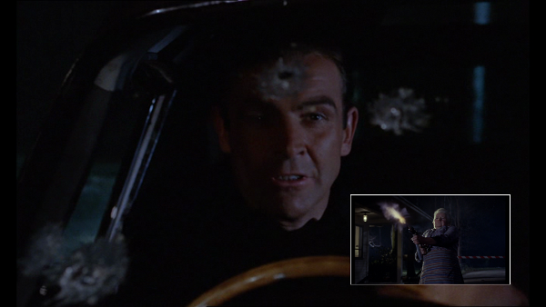 Goldfinger (1967) – kuloodporna szyba ratuje Bondowi życie