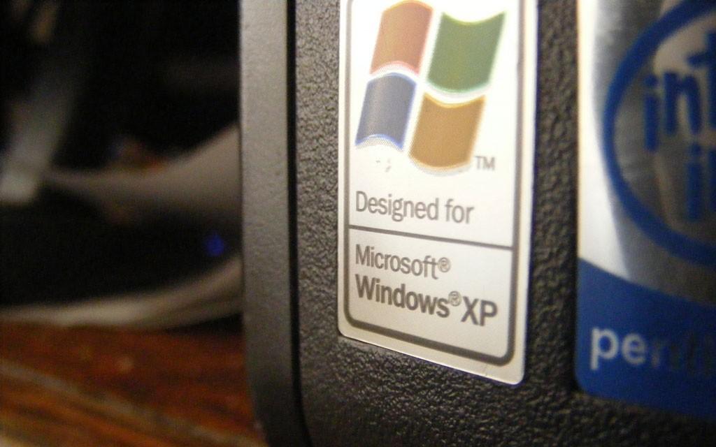 windows xp naklejka nakomputer