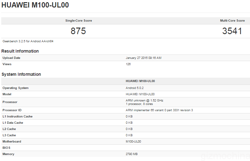 huawei-device-on-geekbench