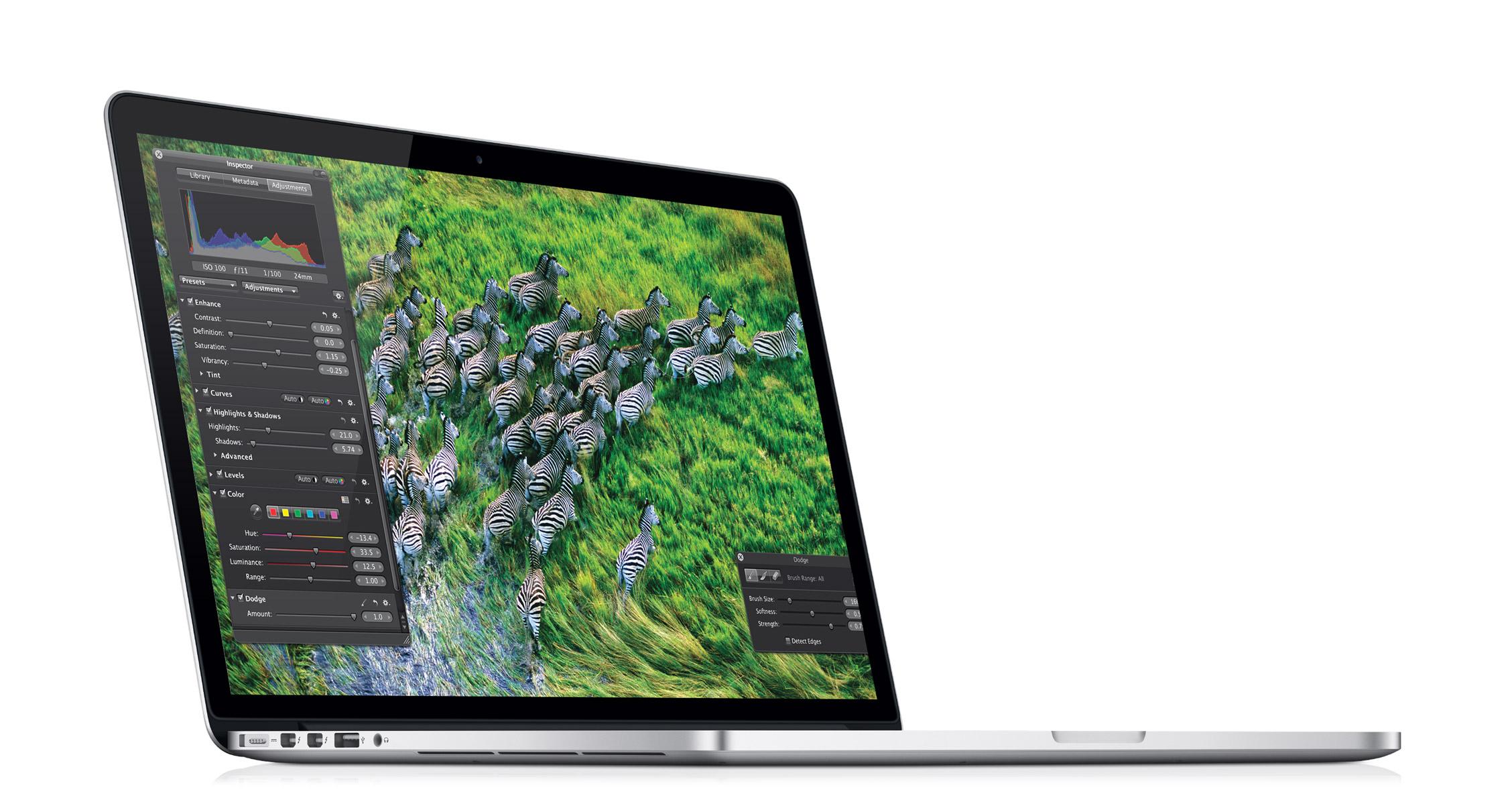 macbook pro - ustawienia kolorów