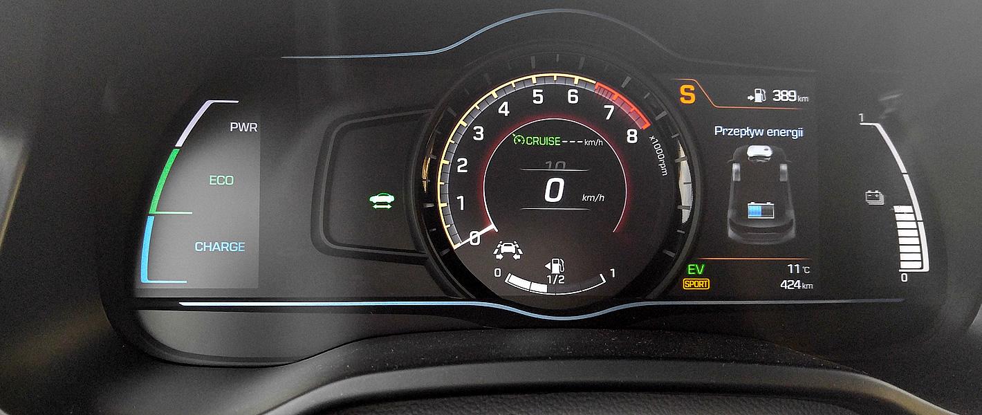 Tryb sportowy w Hyundai IONIQ Hybrid