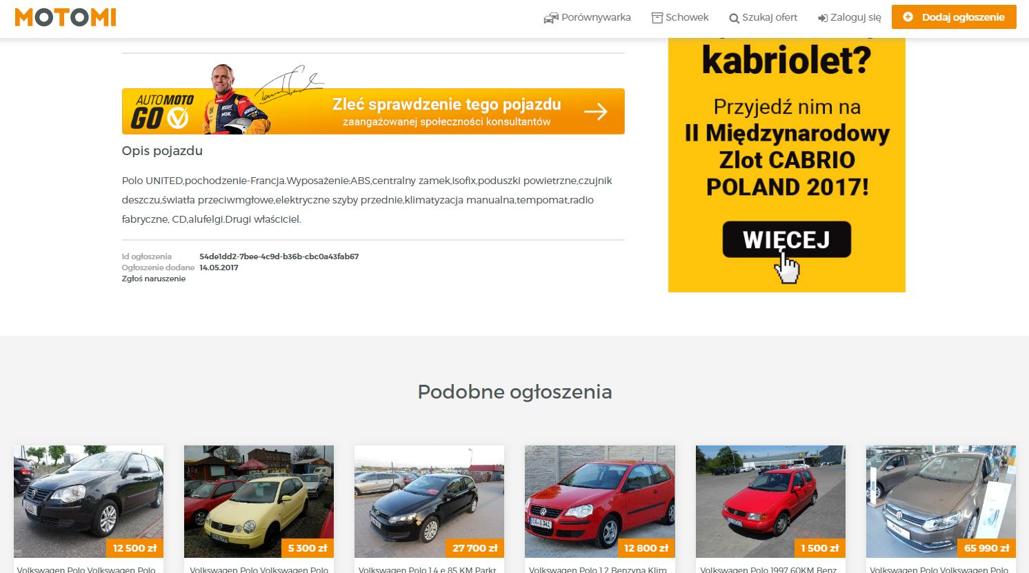 motomi.pl podobne ogłoszenia
