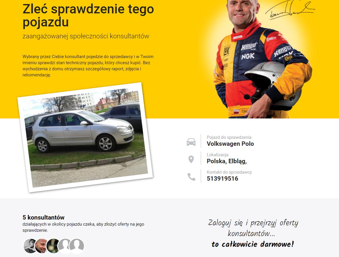 motomi.pl sprawdzenie pojazdu
