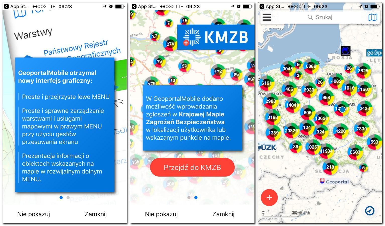 Krajowa Mapa Zagrożeń Bezpieczeństwa - nowy interfejs graficzny