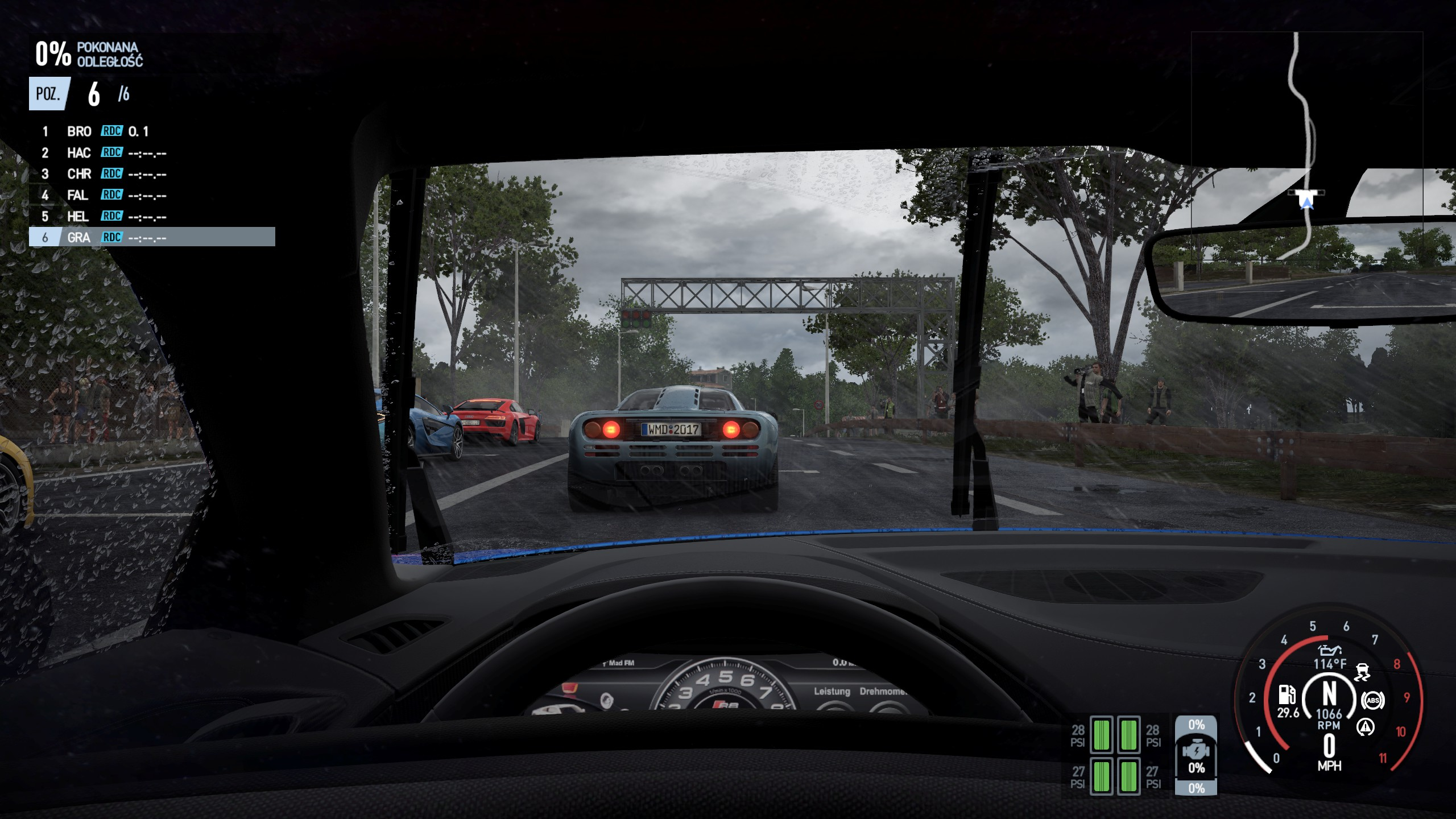 Project CARS 2 - widok zza kierownicy