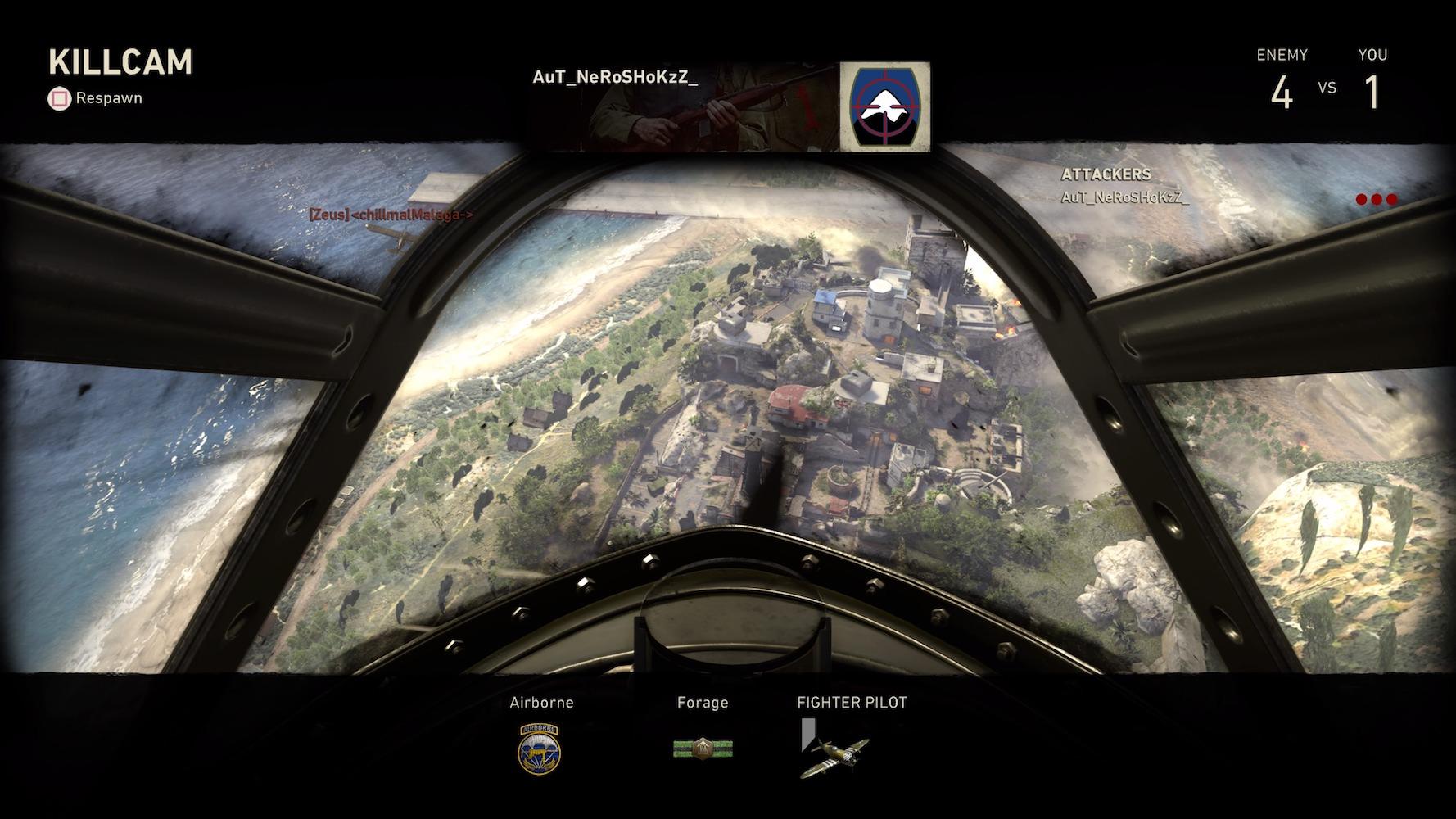 Call of Duty: WWII ostrzał z powietrza