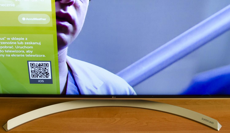 LG Super UHD 4K Nano Cell podstawka i obraz
