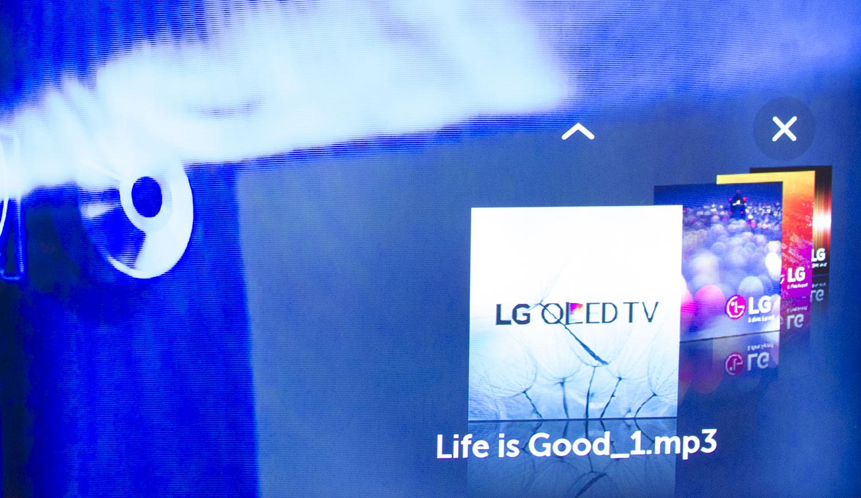 LG Super UHD 4K Nano Cell odtwarzanie plików