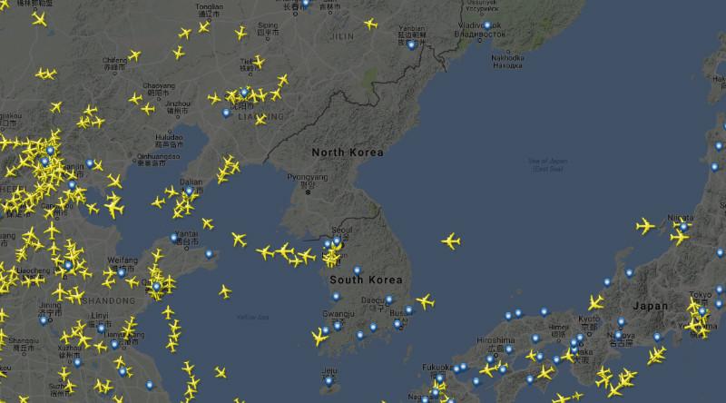 ruch samolotów na świecie