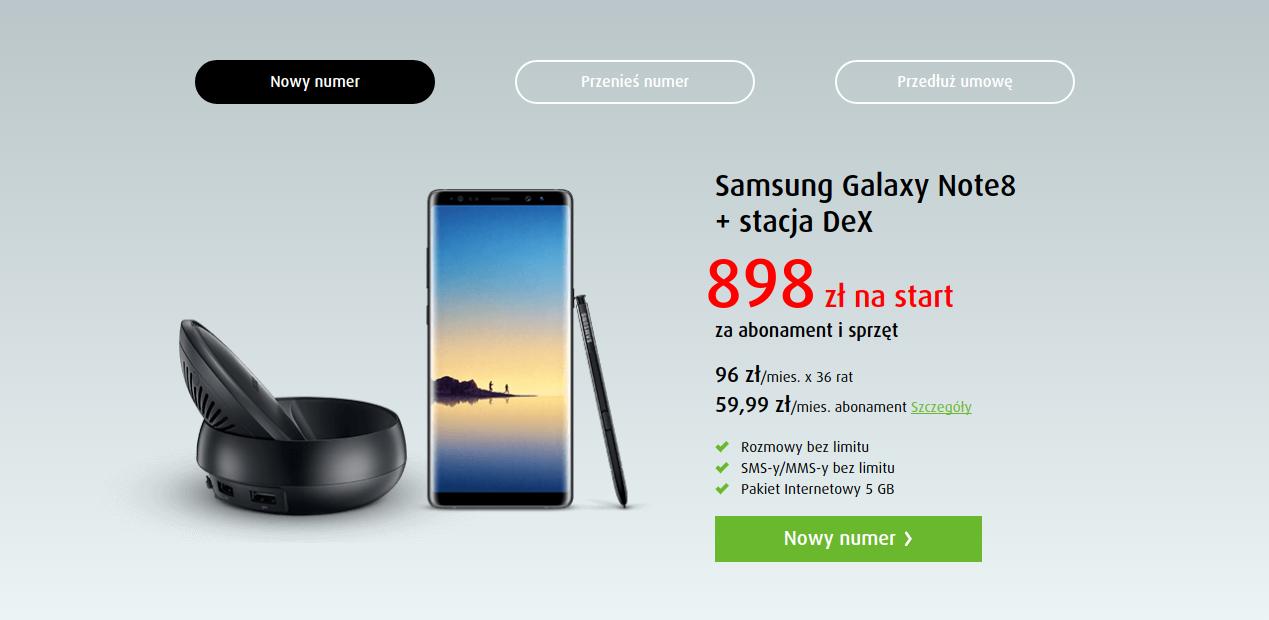 Samsung Galaxy Note8 istacja DeX grafika