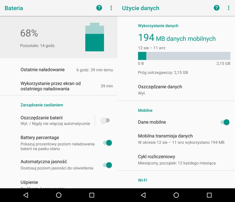 zmiany w androidzie 10 oreo - oszczędzanie baterii sieć komórkowa
