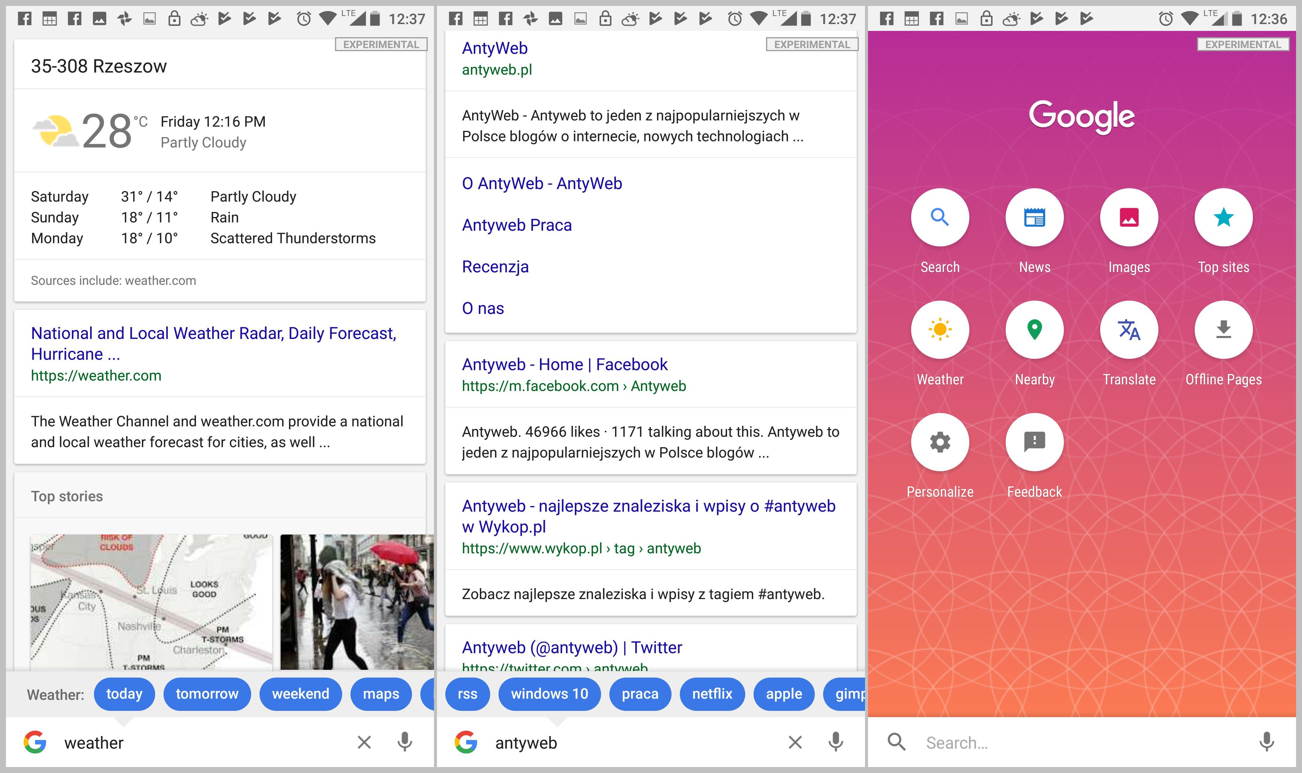 google screenshot usługi