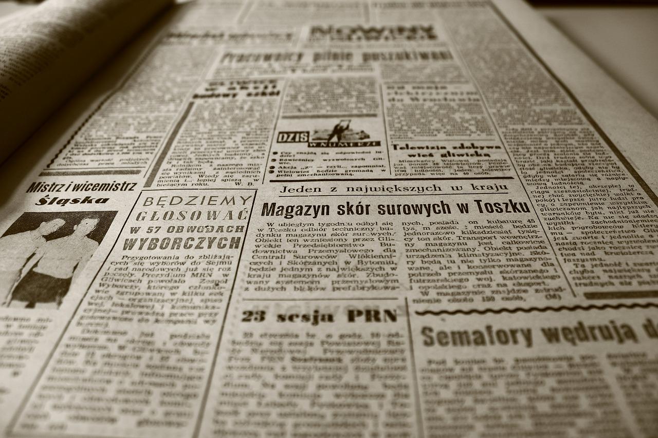 zdjęcie starej gazety
