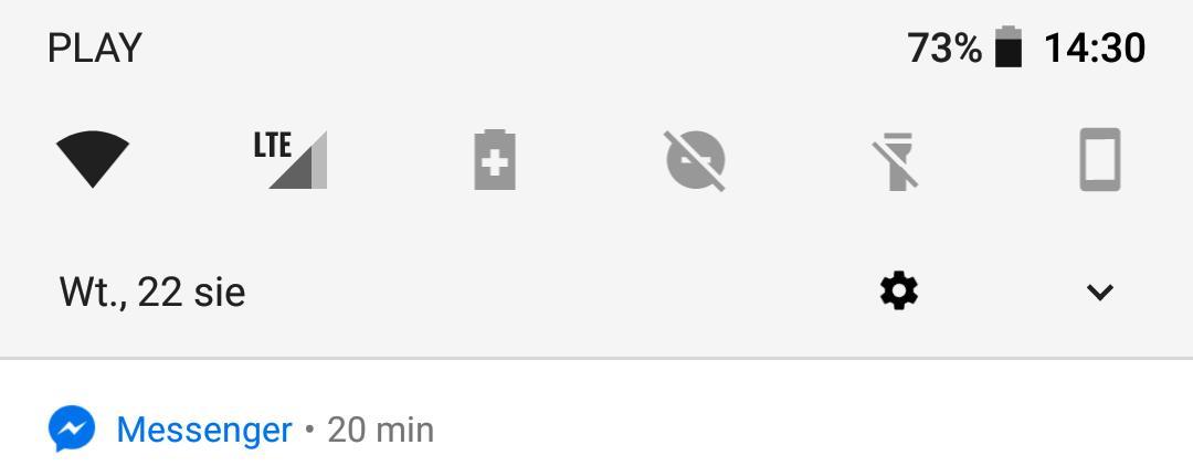 zmiany w androidzie 10 oreo - zmienione centrum sterowania