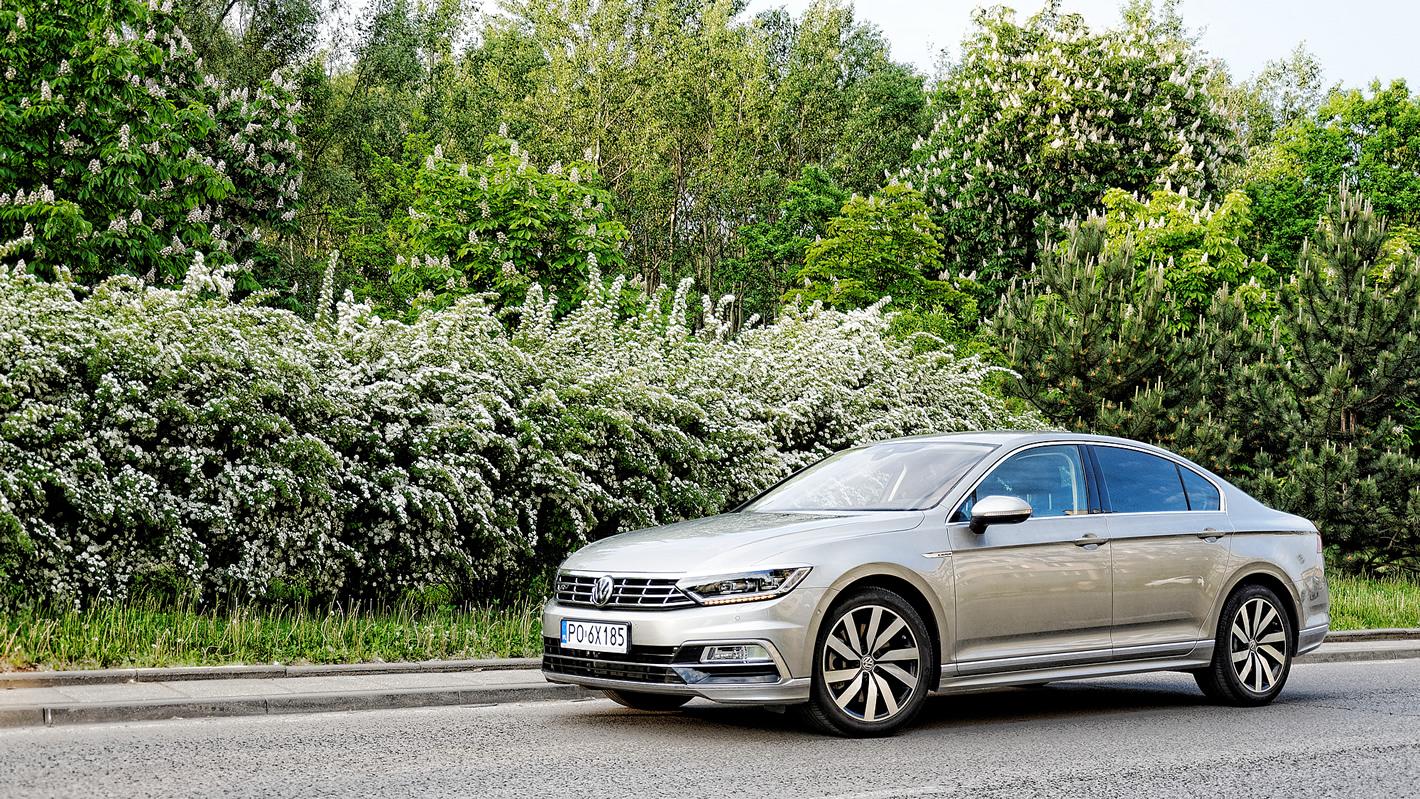 Volkswagen Passat 2.0 TSI 4Motion pośród roślin