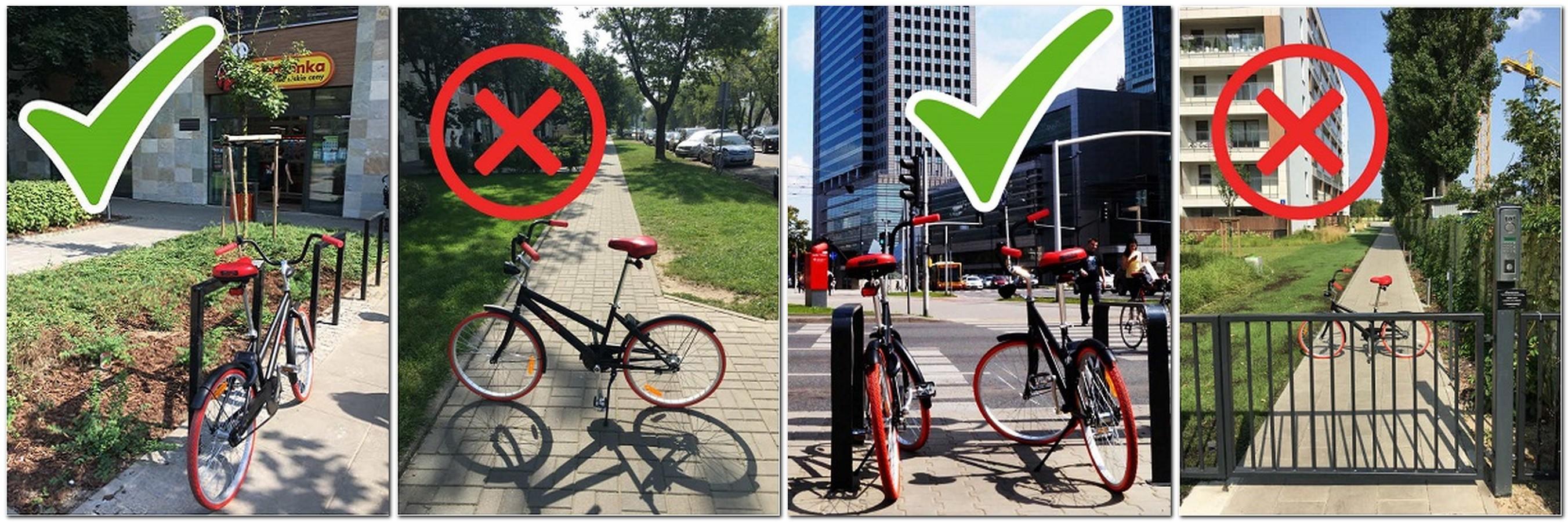 jak należy zaparkować rower crossbike