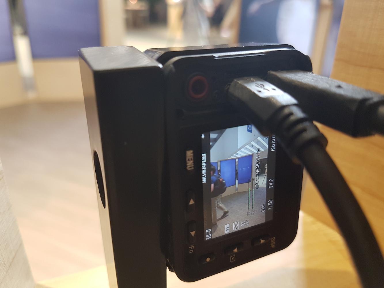 włączona Kamera Sony RX0