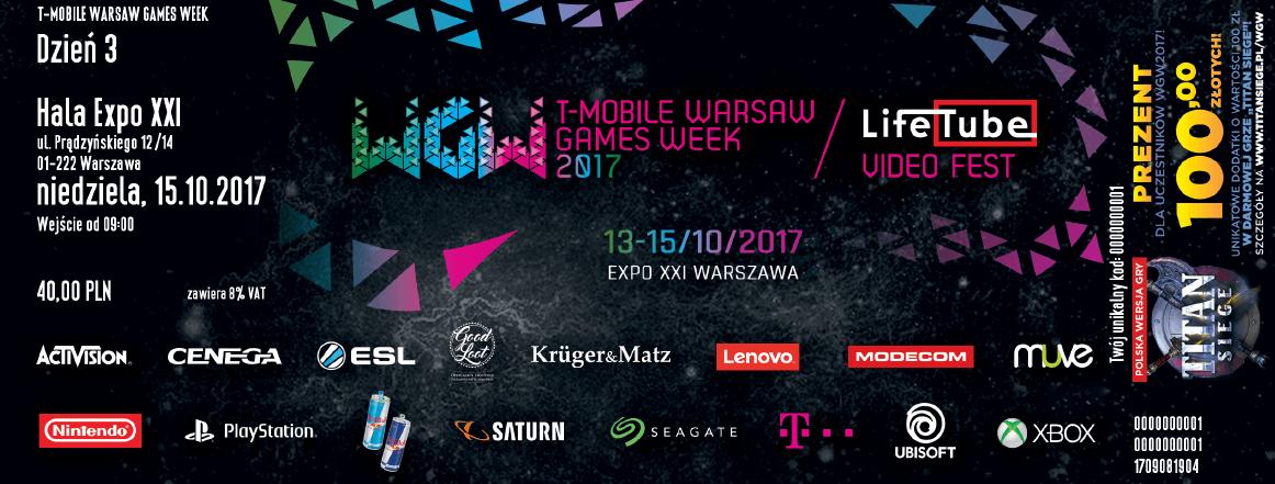 T-Mobile Warsaw Games Week - bilet wstępu