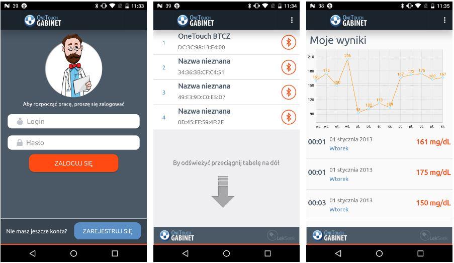 OneTouch Gabinet - aplikacja dla cukrzyków