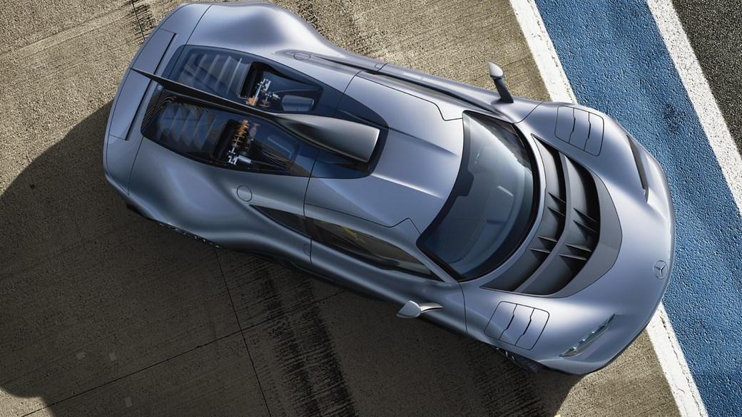 Mercedes-AMG Project One odgóry