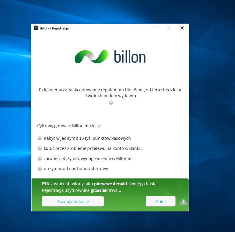Billon rejestracja