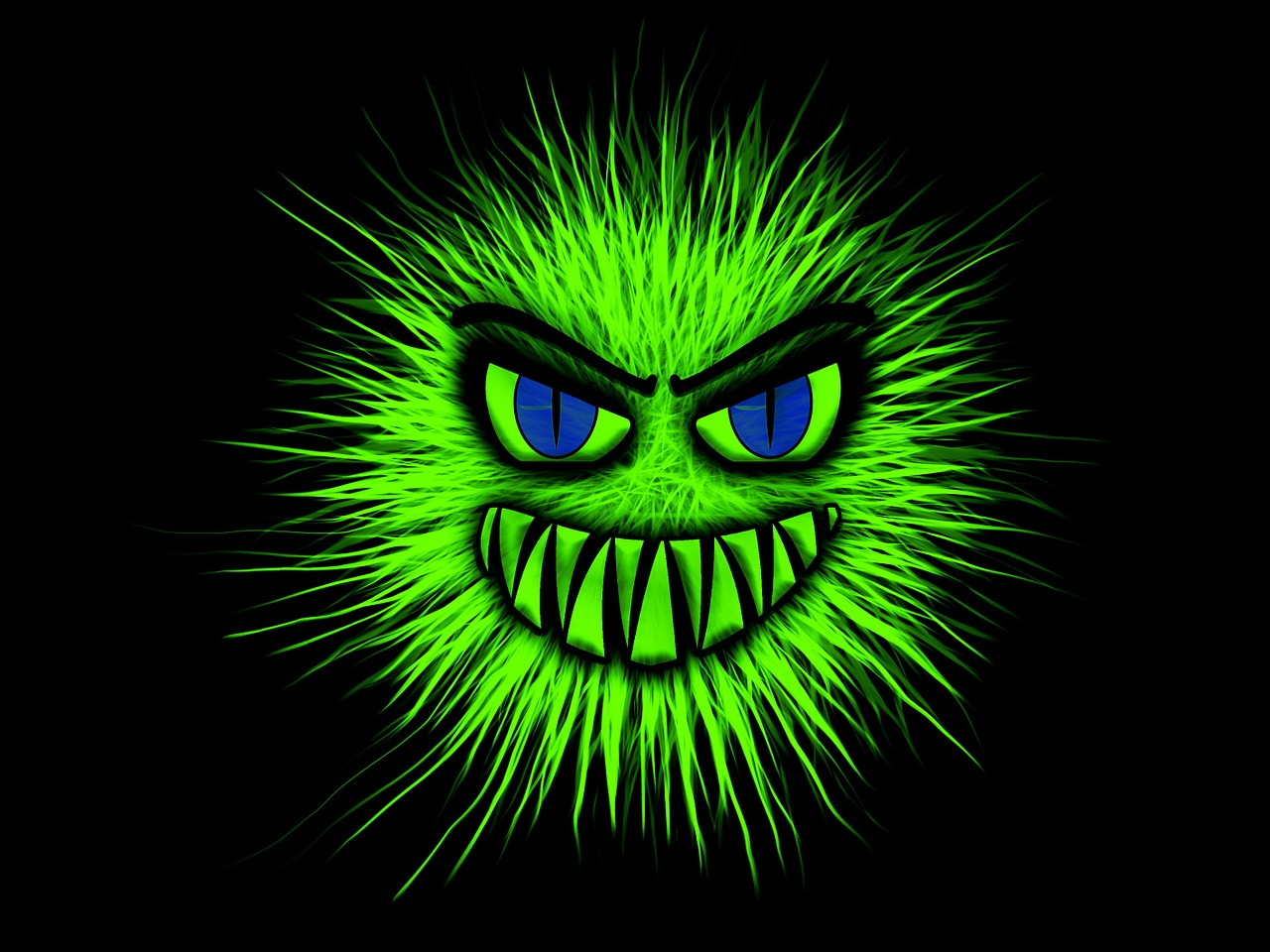 potwór-śmiech, grafika