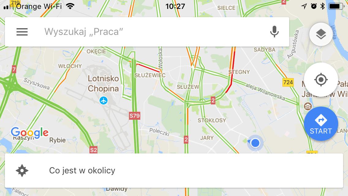 taksówkarze pytają o drogę - mapa