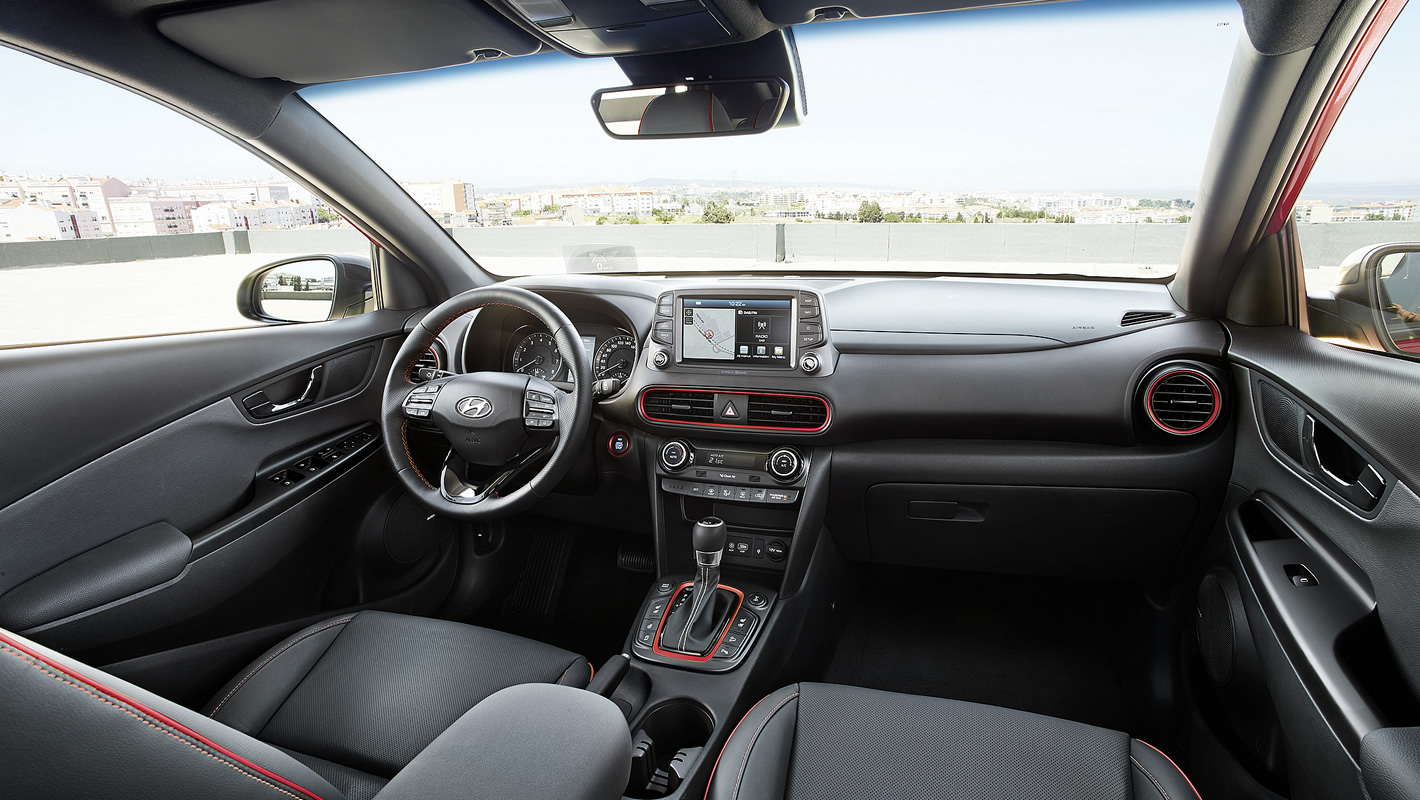 Wnętrze Hyundai Kona