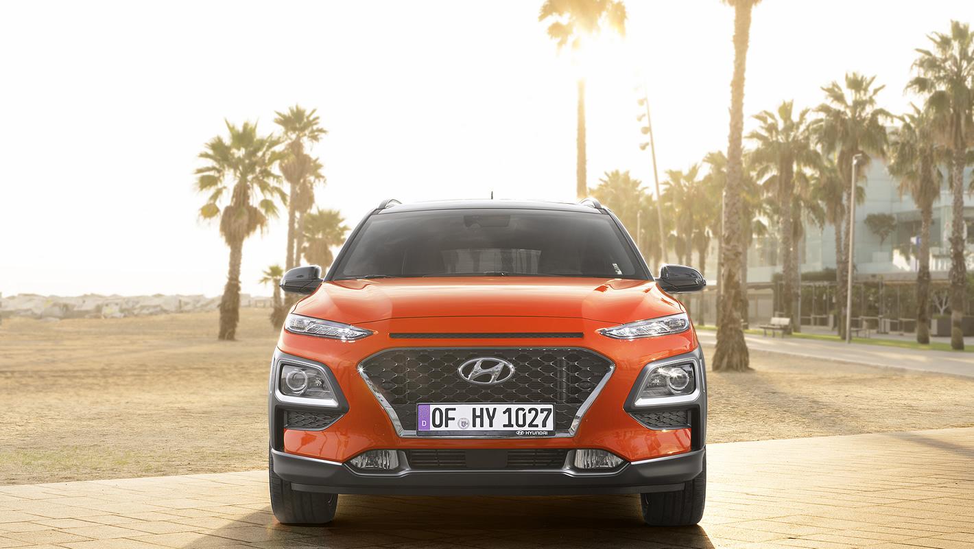 Hyundai Kona z przodu