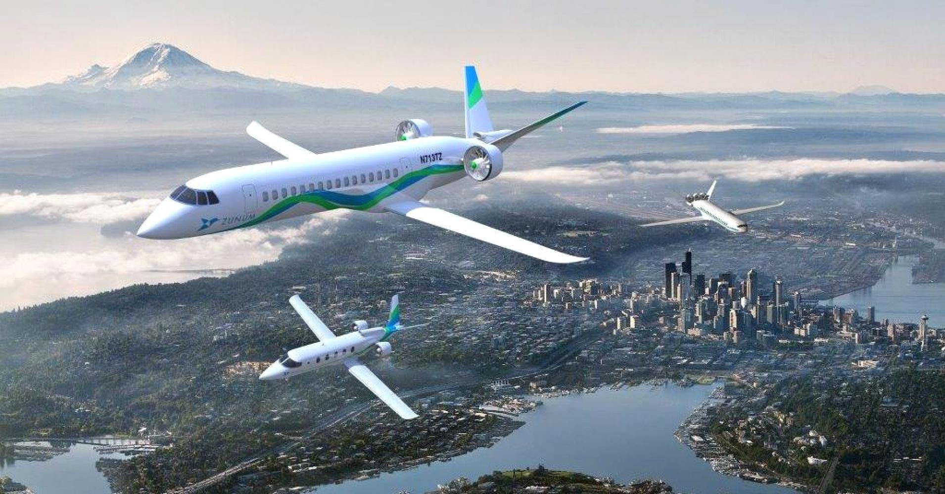 Zunum Aero toprzyszłość lotnictwa-samoloty hybrydowe