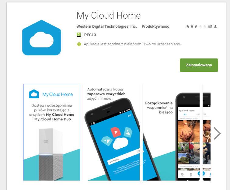 My CLoud Home app
