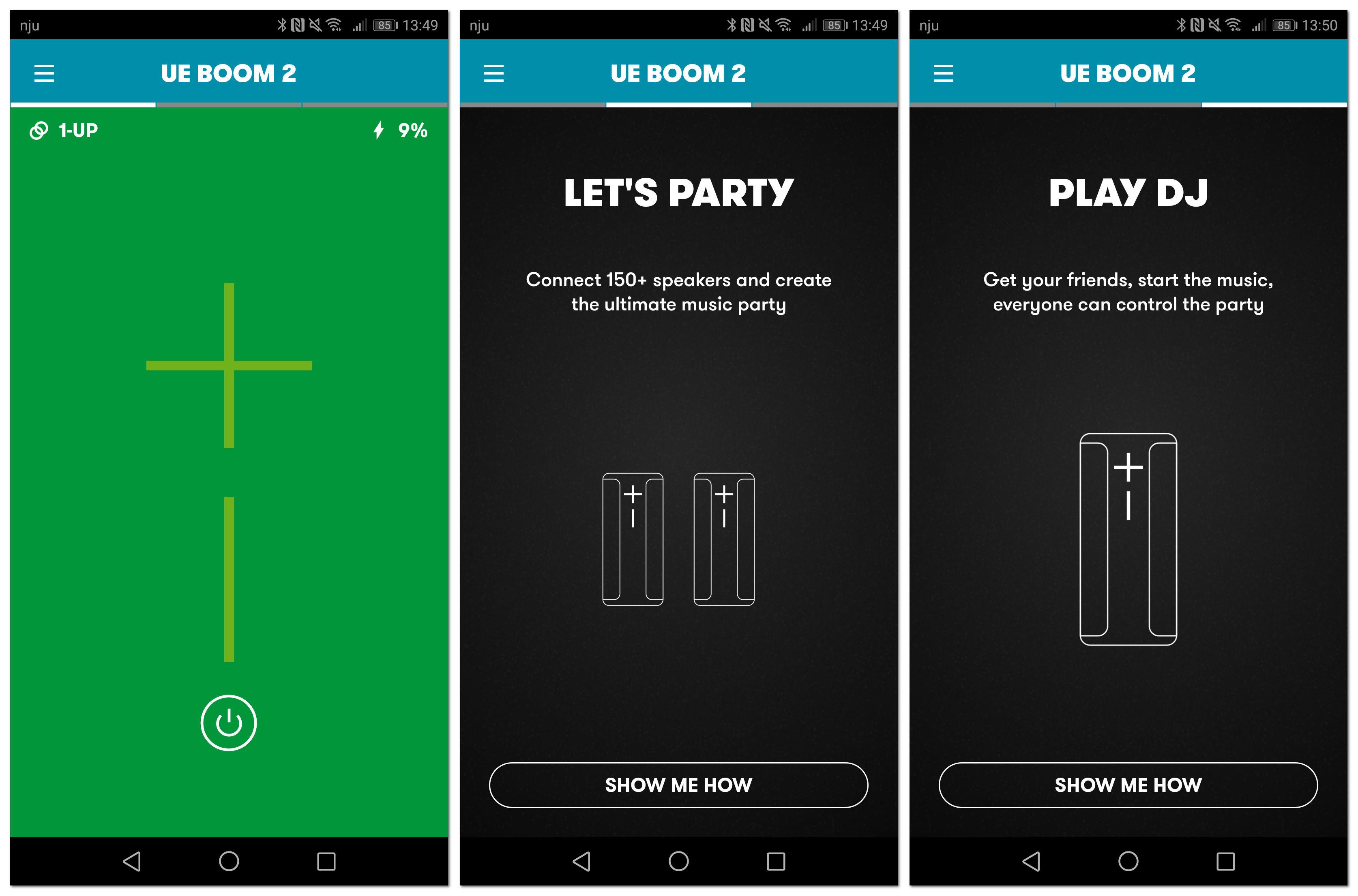 aplikacja mobilna - ue boom 2 dosterowania głośnikiem
