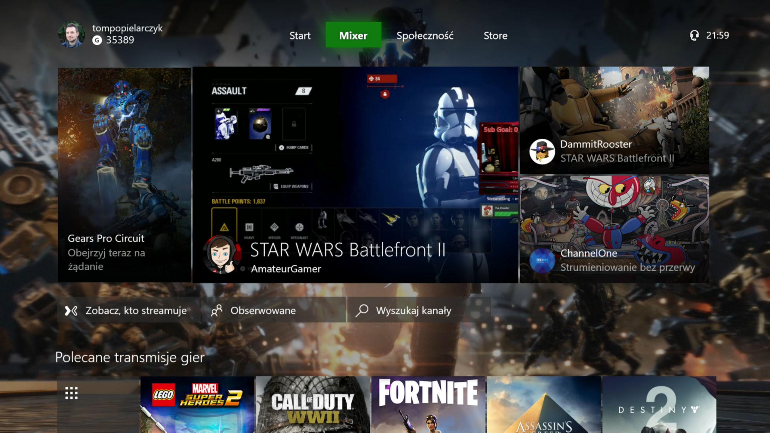 Xbox One X Mixer
