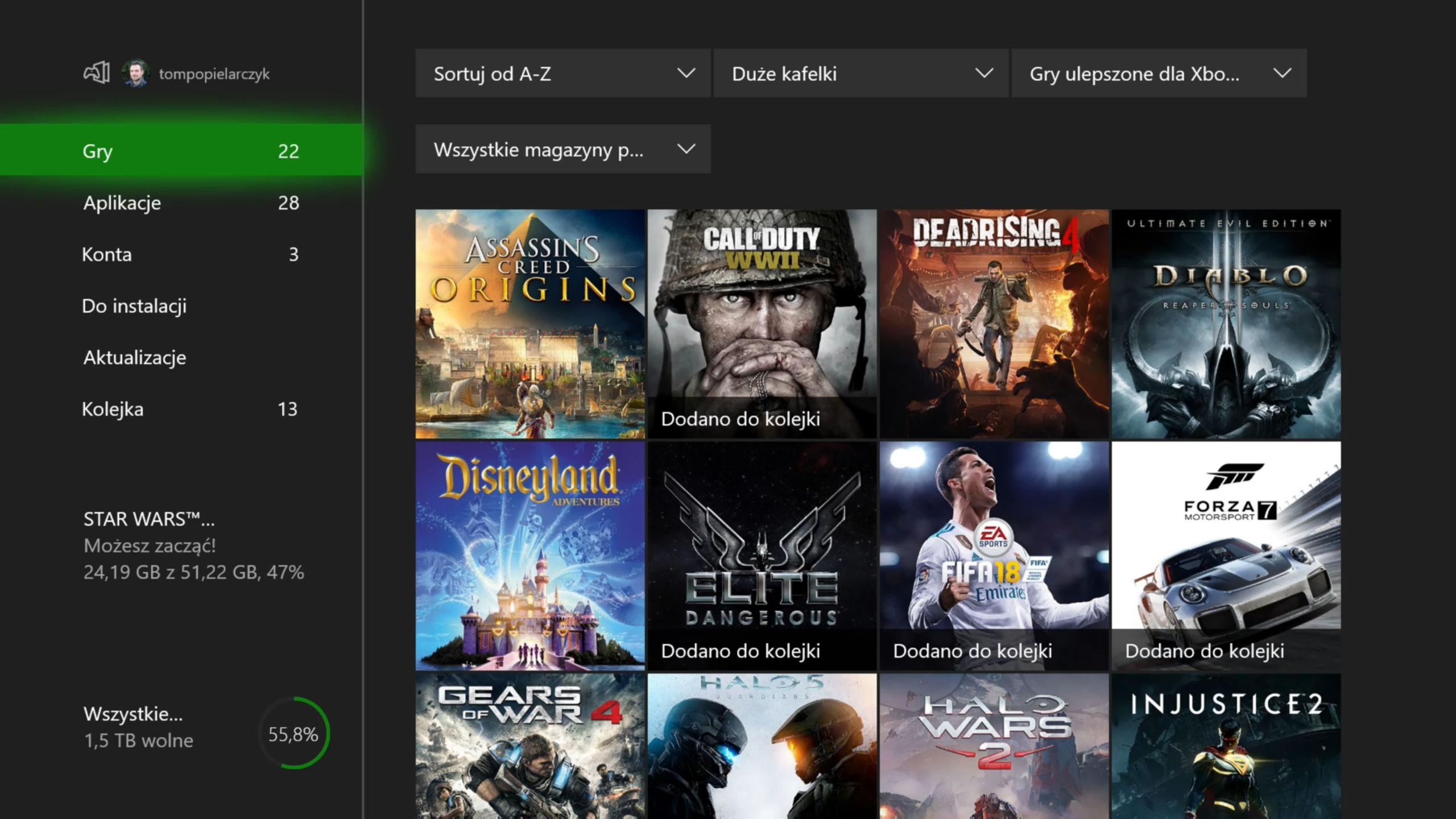 Xbox One X gry