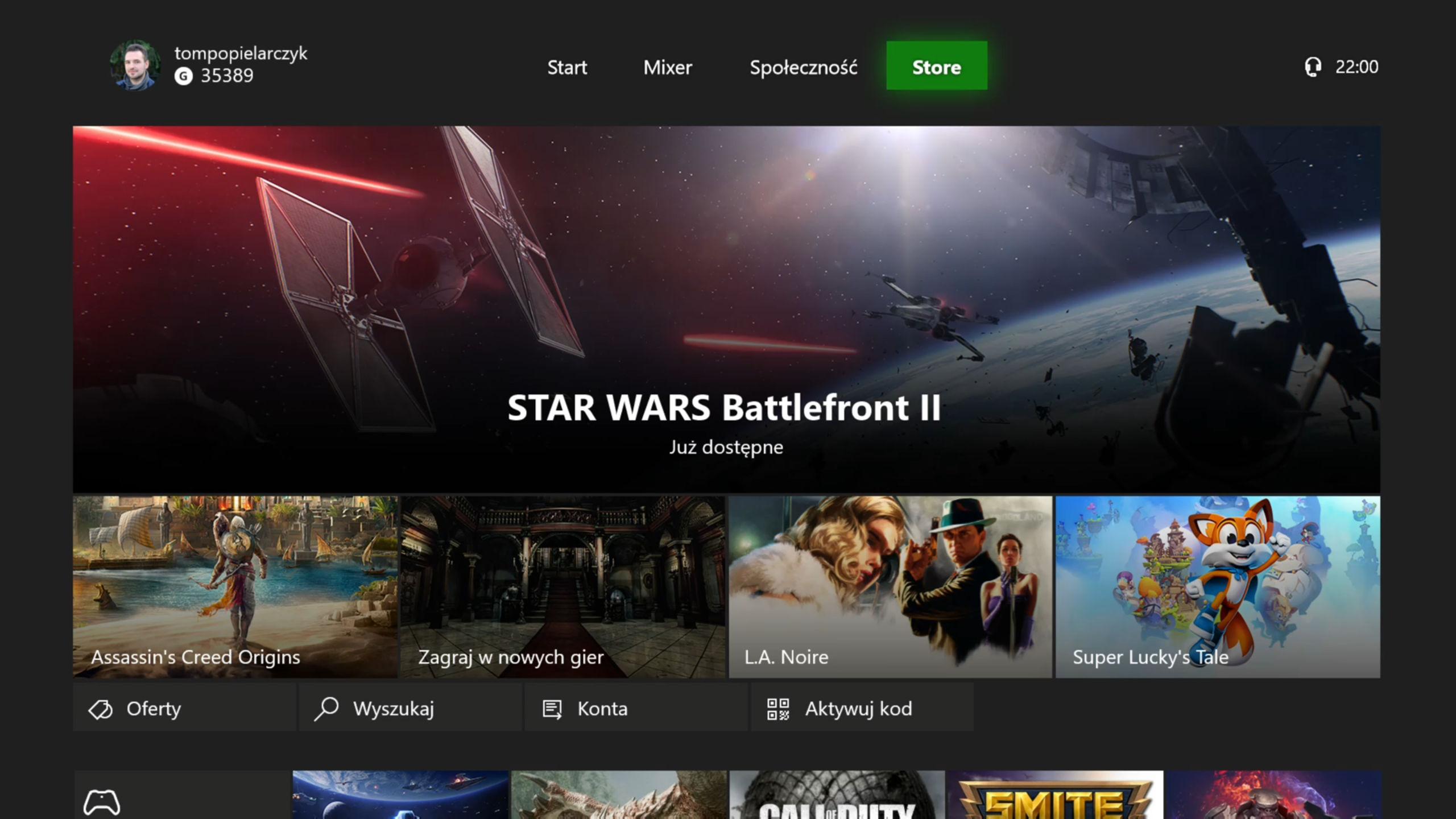 Xbox One sklep Store