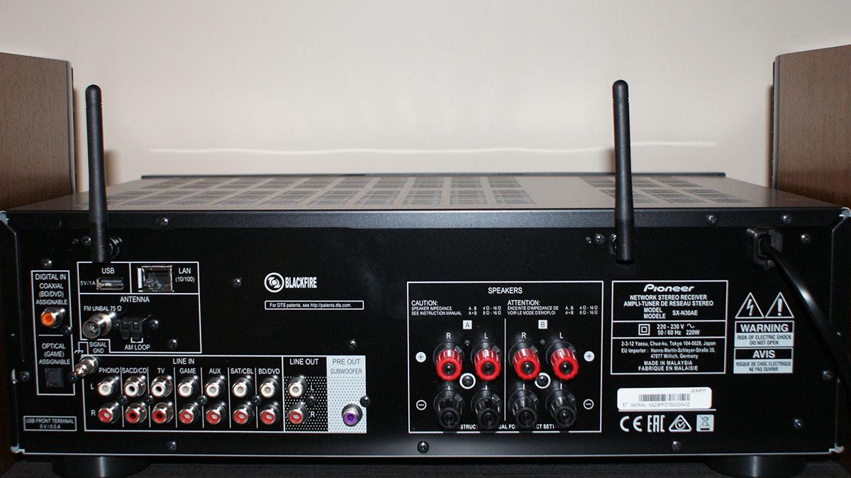 Yamaha WXAD-10 - wejścia, gniazda