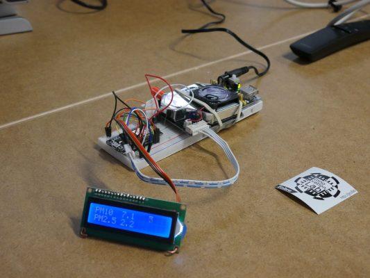 urządzenie mierzące ilość zanieczyszczenia w powietrzu