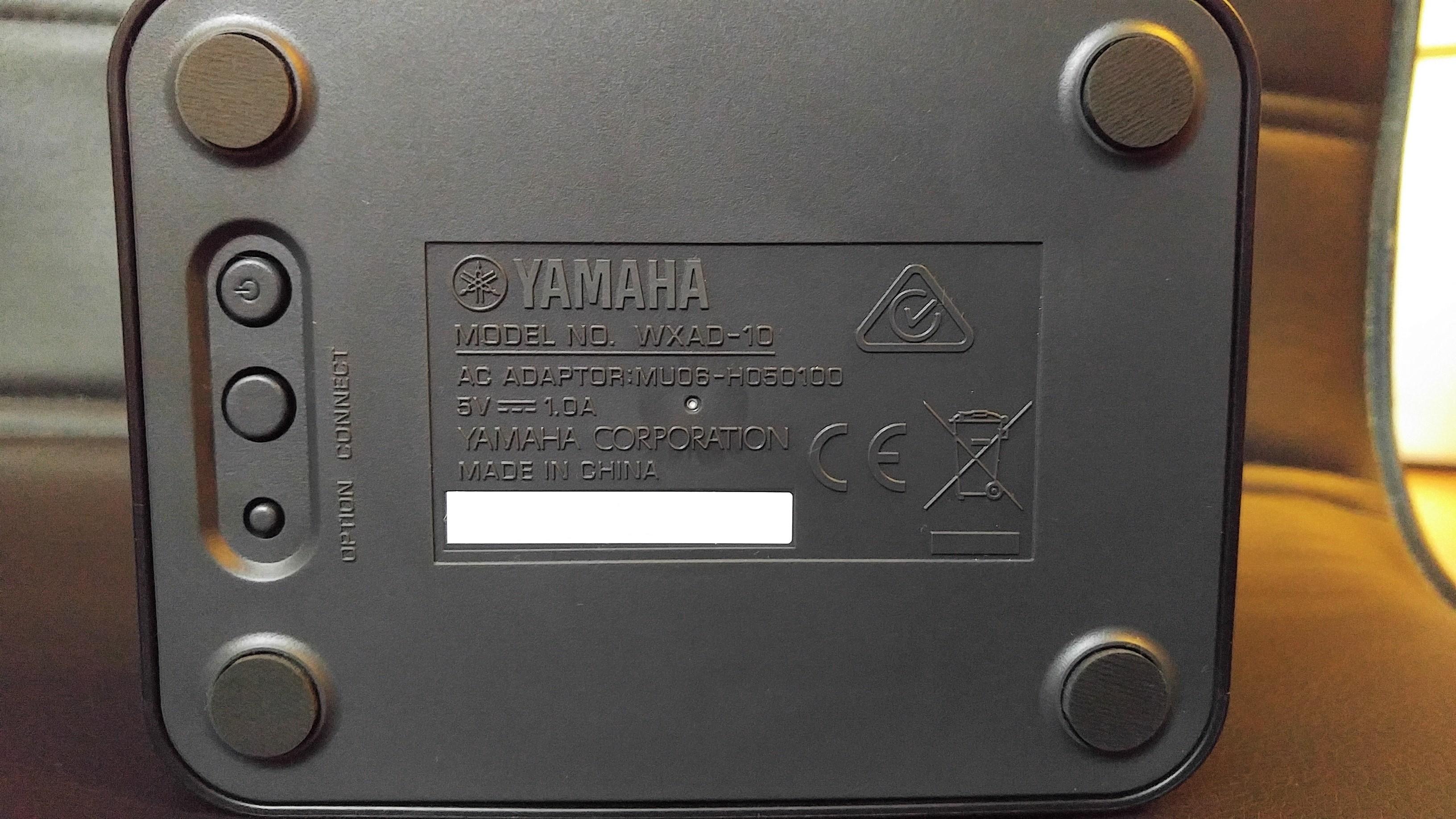 Yamaha WXAD-10 - spód urządzenia