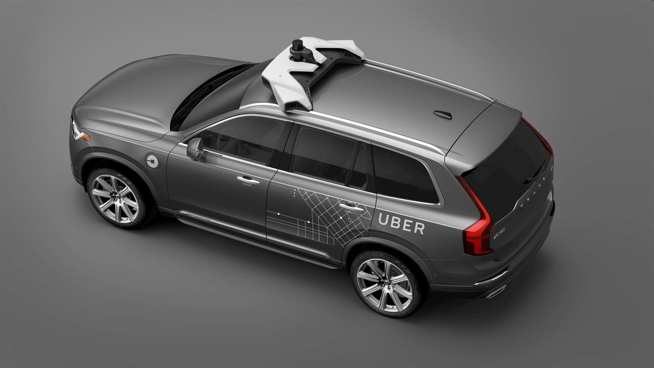 uber - auto autonomiczne Volvo
