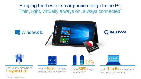 Qualcomm Snapdragon 835 Windows 10