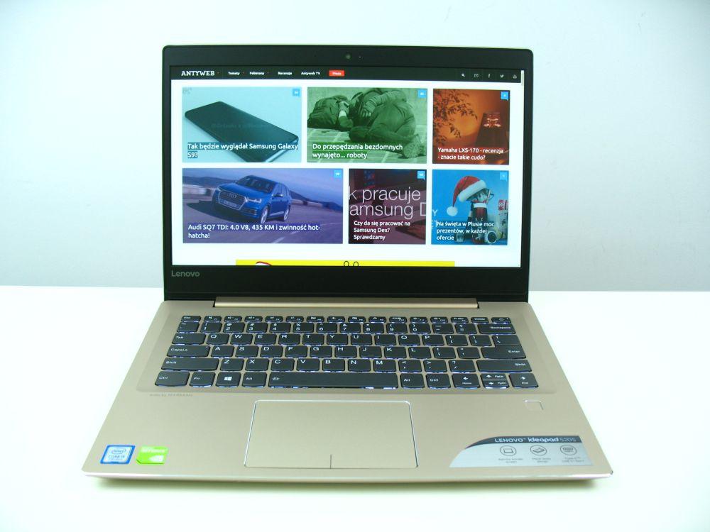 Obudowa złotego Lenovo IdeaPad 520s
