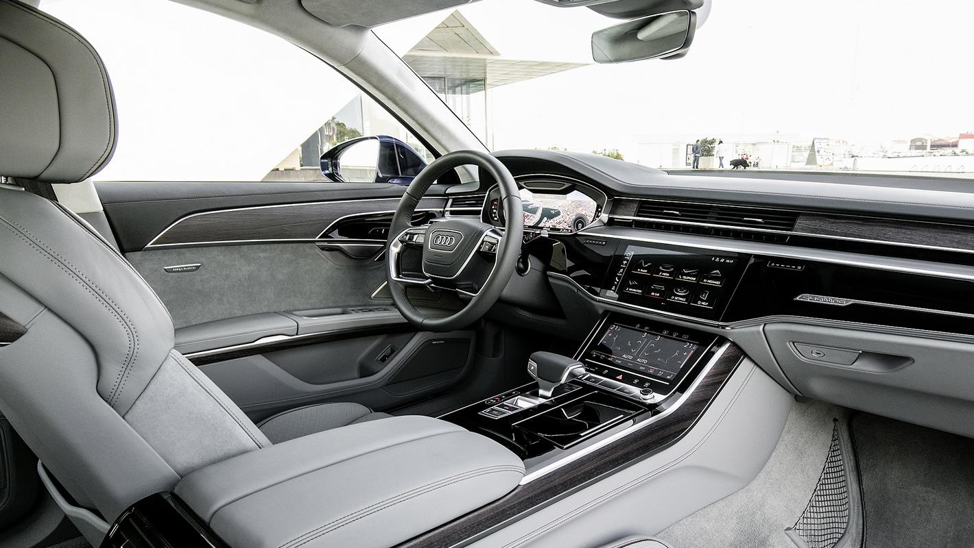 Perfekcyjne wykonanie wnętrza Audi A8