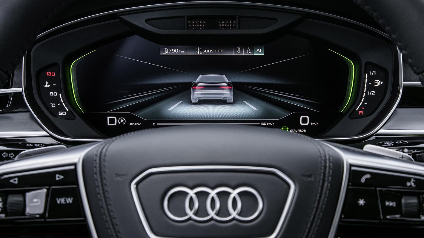 Autonomiczna jazda nowego Audi A8 aktywna