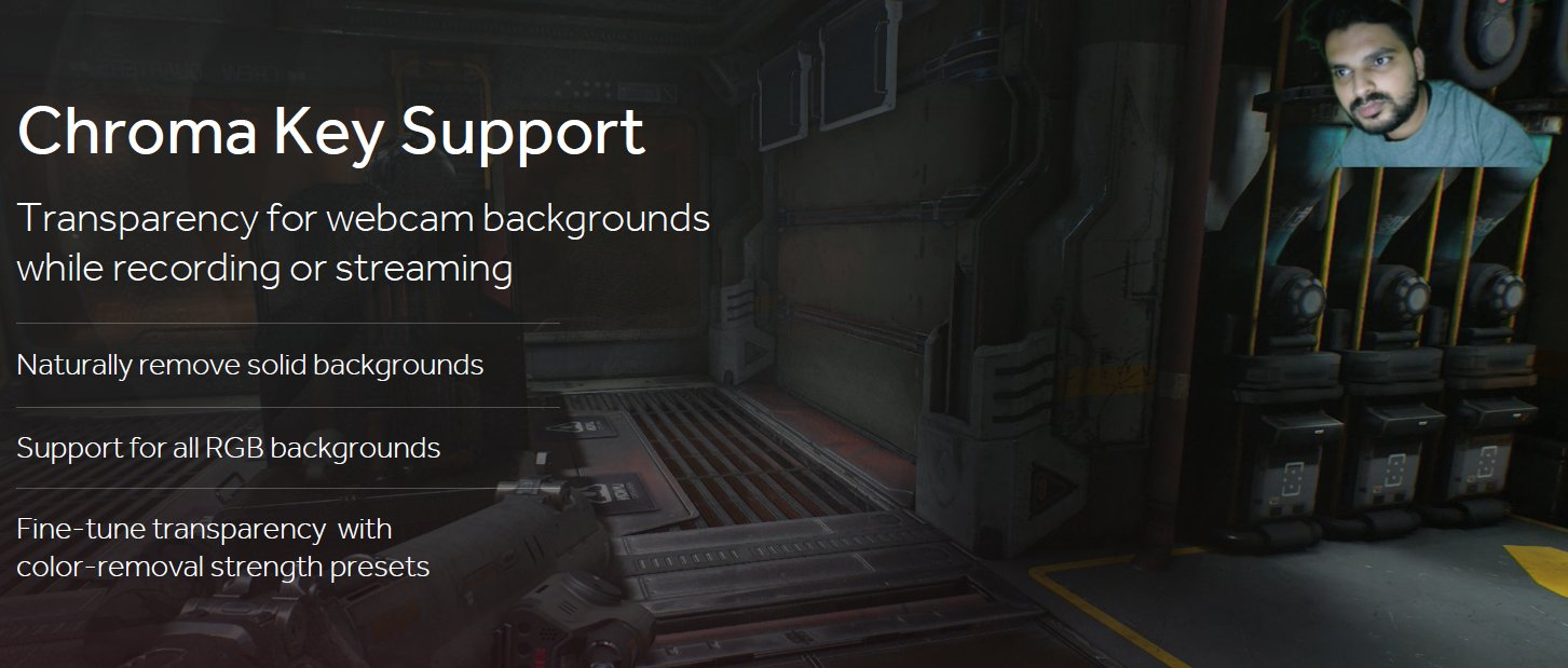 AMD ReLive Chrome Key Support