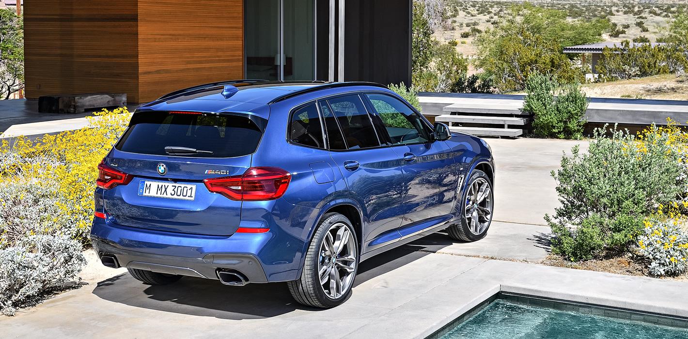 Nowe BMW X3 M40i ztyłu