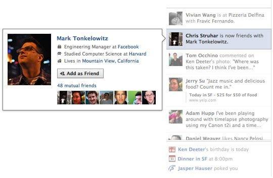 działanie facebook ticker