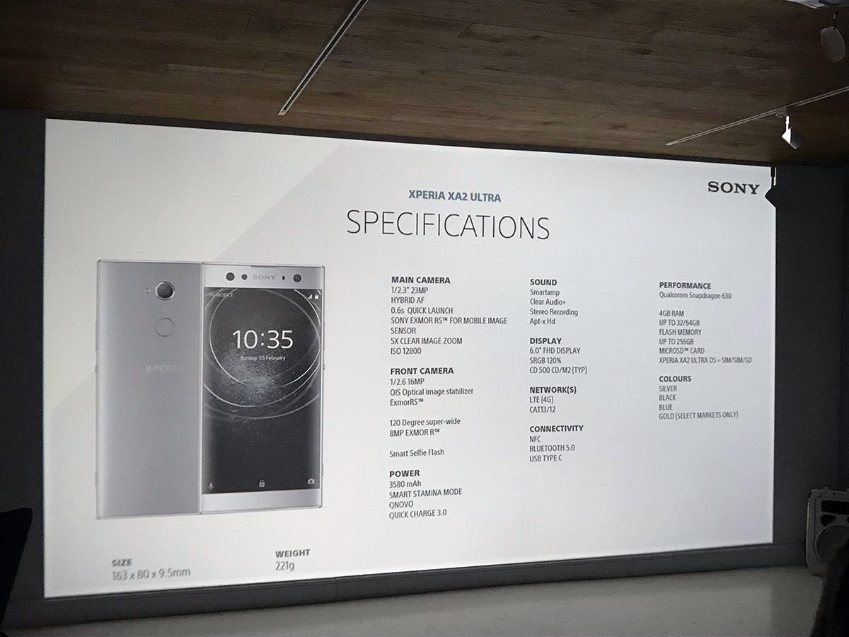 Specyfikacja nowego Sony Xperia XA2