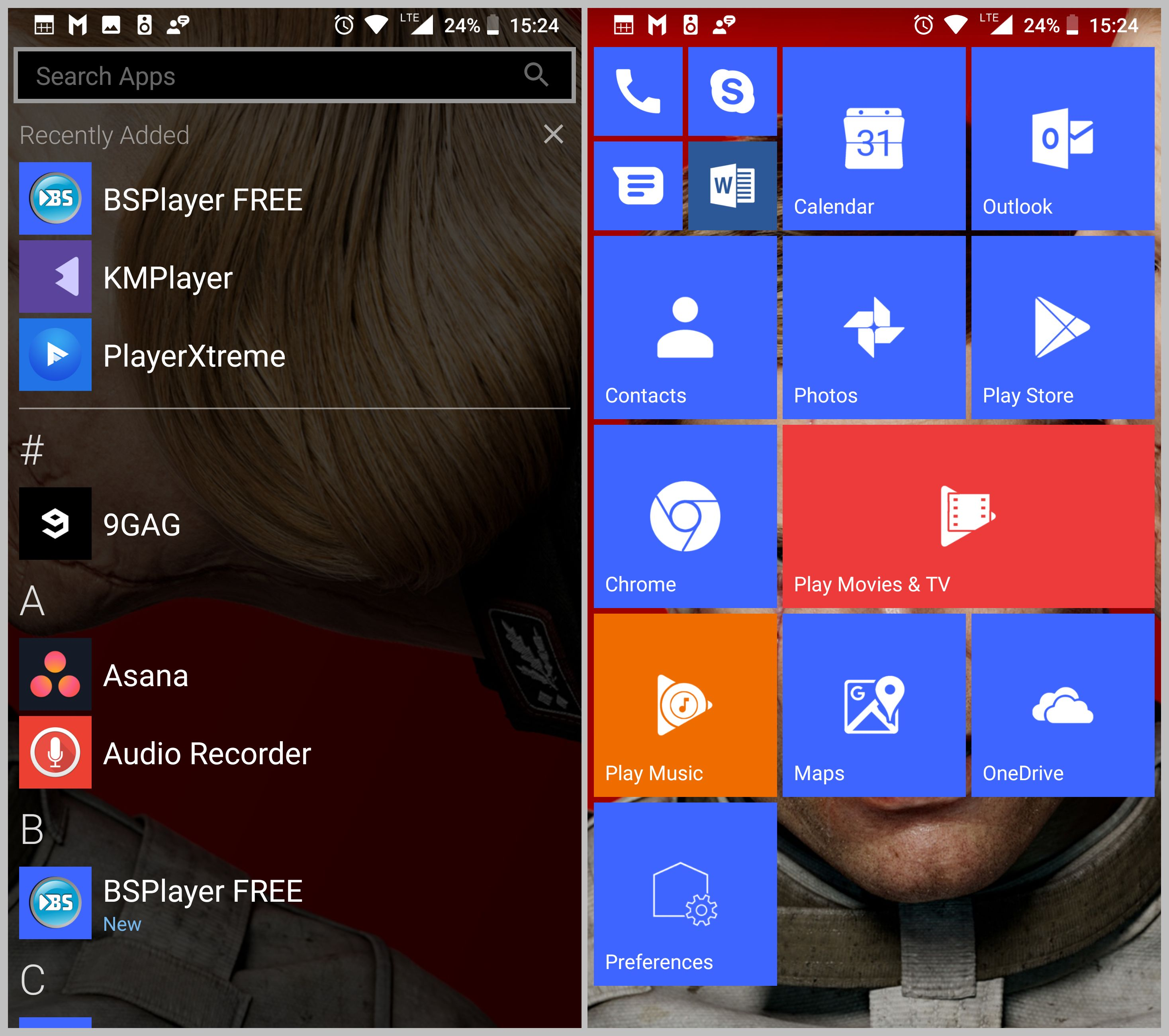 Launcher10, Windows 10 Mobile, Android, Nokia 8