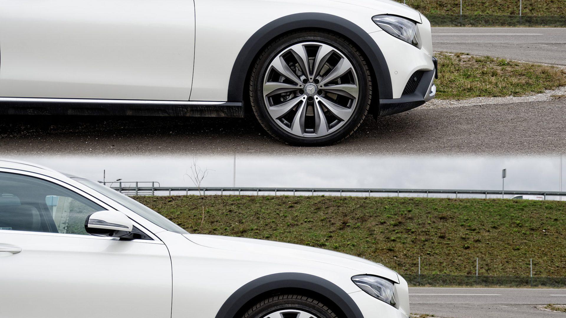 Mercedes-Benz Klasy E 4Matic All-Terrain regulowany prześwit zawieszenia