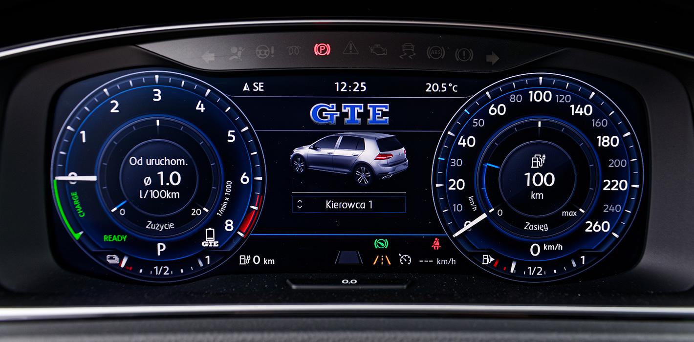 Volkswagen Golf GTE - active info display